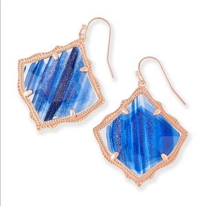 Kendra Scott Kirsten Drop in Navy with Rose Gold